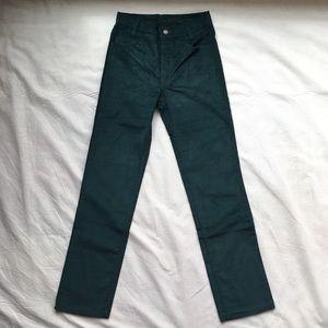 1983 LEVI Student Straight Leg Cords 28/31 Green